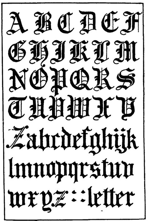 Töff In English by Gothic Letters Use This For Calligraphy All The Time