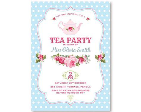 templates for high tea invitations items similar to tea party invitation shabby chic high tea