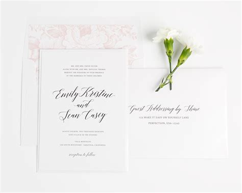 Garden Wedding Invitation Ideas Garden Wedding Invitations In Blush Wedding