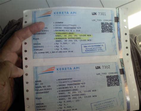 tiket kereta api penataran   One's Blog