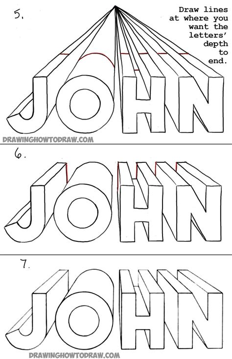 lettering sketch tutorial 27 best drawing one point perspective name project
