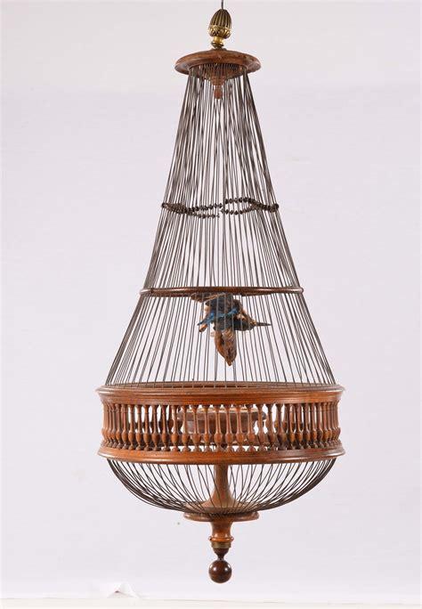 gabbia per uccelli in legno antiquariato e dipinti