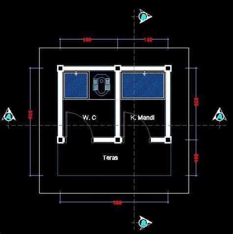 desain gambar wc sekolah auto cad gambar wc dan kamar mandi dwg file sanggar teknik