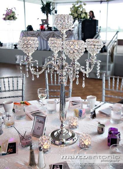 Wedding Centerpiece Rentals Michigan   Crystal Candelabras