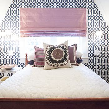 white and navy blue striped wall eclectic bedroom white and navy blue striped wall eclectic bedroom