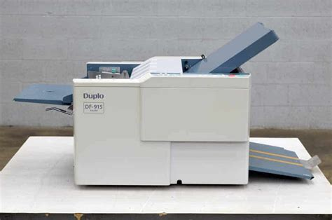Second Paper Folding Machine - duplo df 915 paper folding machine boggs equipment