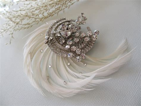 1920 hair clips art deco hair clip 1920s 1930s vintage inspired bridal