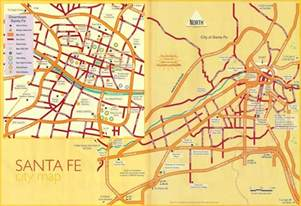 santa fe map santa fe new mexico map