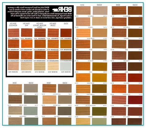 home depot deck stain color chart home improvement