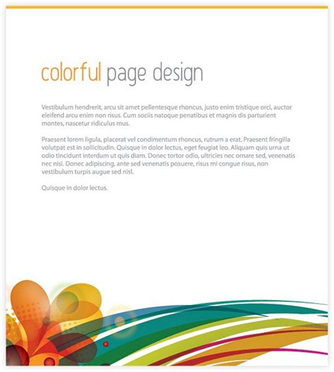 free online page layout design colorful page design free vector 123freevectors