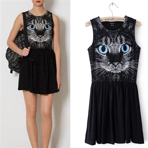 Dress Cat blue cat dress for on luulla
