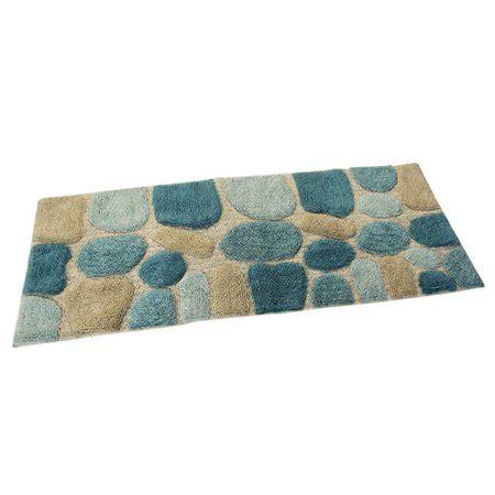 pebbles bath rug runner khaki walmart