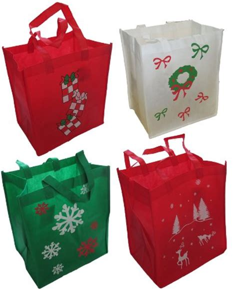 reusable holiday gift bags make wrapping a snap and