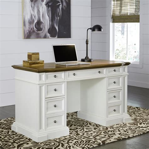 Home Decorators Collection Oxford White Desk 0151200410 White Desk