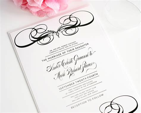 Customized Wedding Invites by Unique Wedding Invitations In Black And White Wedding