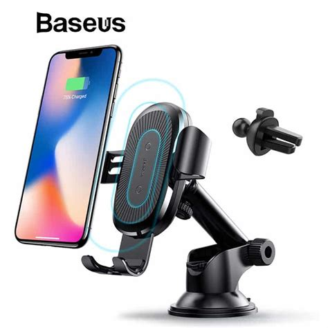 baseus qi wireless charger for mobile phone car phone charger fast wireless charging pad for