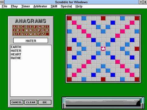 scrabble windows scrabble for windows 1992 strategy