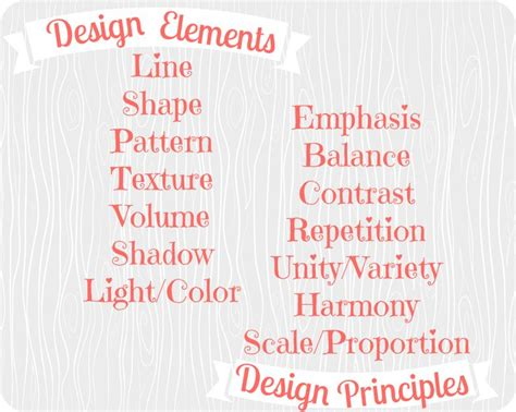 design elements list the design elements and principles the interiors
