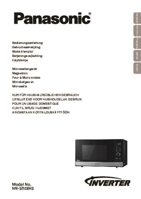 Plat 2 Panasonic Wehj6802 A Mode notice four micro onde panasonic nnsd28hs et pi 232 ces
