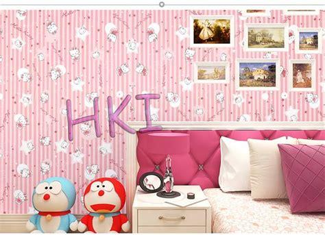 jual diskon wallpaper tembok  kitty stars pink