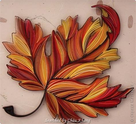 leaf pattern quilling 9 best images about quilled leaves 2 on pinterest