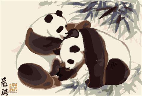 gambar animasi bergerak panda lucu lucu