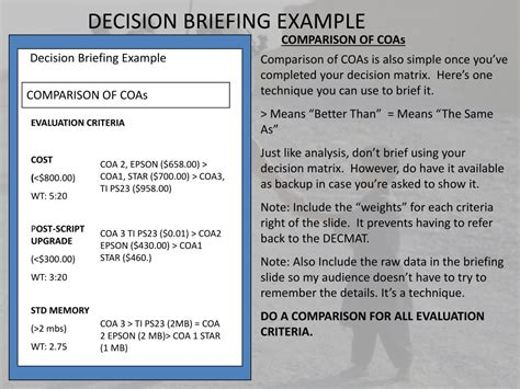 Decision Briefformat Ppt The Decision Briefing Powerpoint Presentation Id 217999