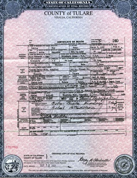 San Bernardino County Marriage Records I M Looking For A Sle Of A Certificate Of Form