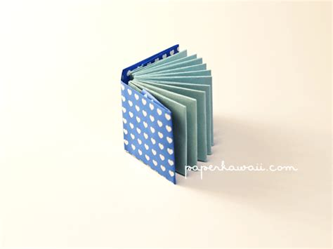 Book Origami Tutorial - modular mini origami book tutorial paperkawaii