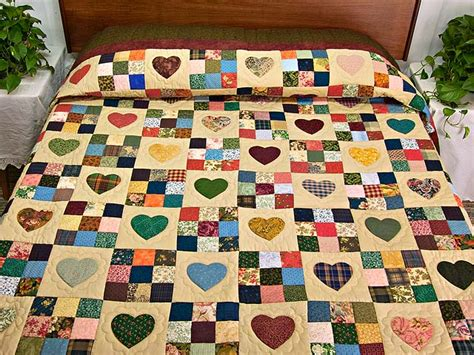 Patch Quilt by Hearts And Nine Patch Quilt Marvelous Made With Care