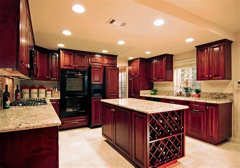Black Metal Kitchen Cabinets Kitchen Awesome Cherry Wood Kitchen Cabinets Home Depot With Brown Oak Wooden Kitchen Cabinet