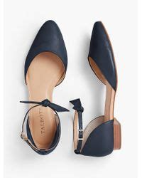Sandal Flat Kepang Mr 26 Hitam 70 talbots edison ankle d orsay flats soft napa leather in blue lyst