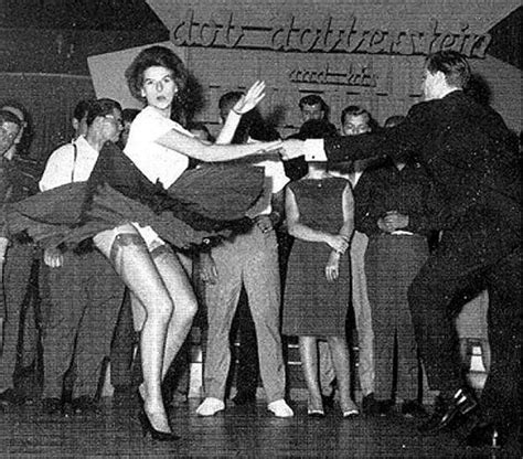 show woman photos in their fifties rock n roll garter belts and nylons the swinging 50s