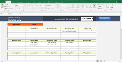planner maker automatic calendar maker from excel list spreadsheet