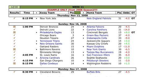 Nfl Weekly Em Spreadsheet by Mathlete S Nfl Football Weekly Pool Em