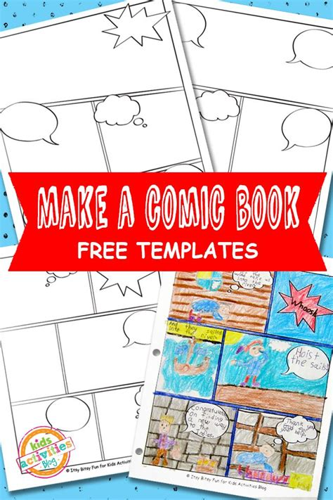 free book template free comic book template printable 24 7
