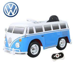 kids volkswagen blue retro ride   vw camper van  kids electric cars