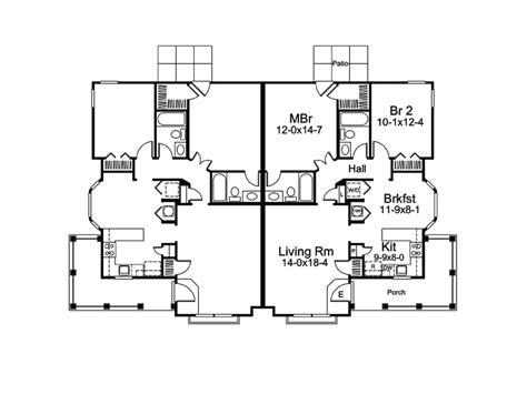 ranch duplex floor plans springdale manor ranch duplex plan 007d 0226 house plans