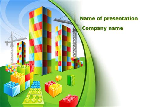 theme powerpoint lego lego bricks powerpoint template backgrounds 08665
