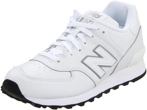 white new balance sneakers new balance womens wl574 sneaker in white white leather