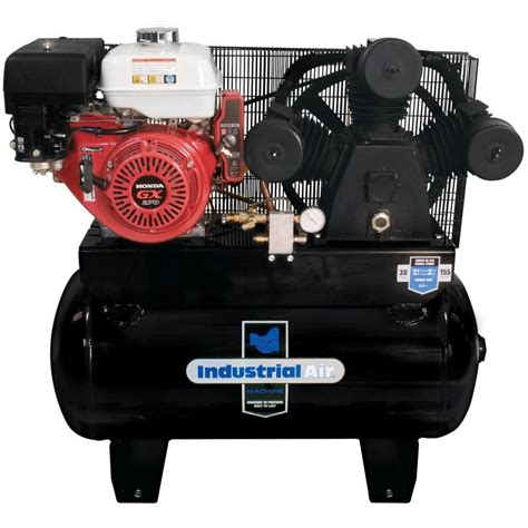 industrial air 30 gal truck mount air compressor with 9 hp electric start honda gas engine