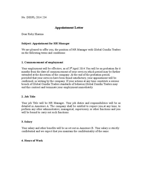 appointment letter non compete clause resume cover letter sle for warehouse resume cover