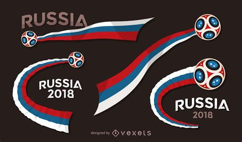 d world cup 2018 russia 2018 world cup banner set vector