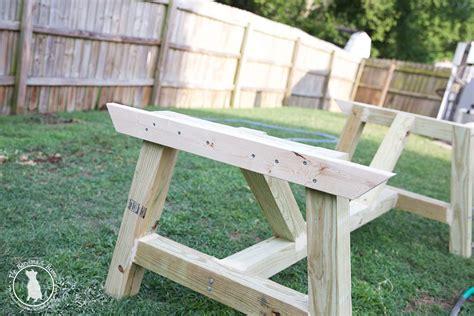how to build an outdoor farmhouse table the handmade home