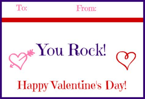 you rock valentines free printable 16 food gifts for valentines day with free printables
