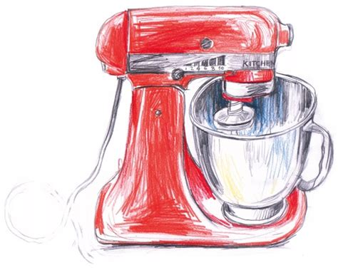 Kitchen Mixer Dwg K Coloured Pencil Drawing Inspiration And Products