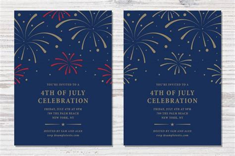 38 patriotic 4th july independence day party invitations