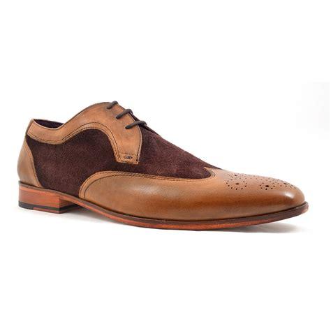 buy two tone brown suede derby shoes gucinari