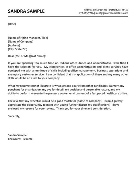 cover letter for medical administrative assistant letter template