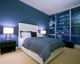 Blue Paint Colors For Bedrooms Midnight Blue Modern Bedroom Decoist